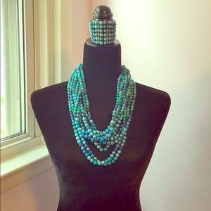 Chico's Fiona Necklace and Bracelet Set